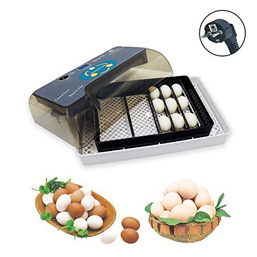 Huatuo avioneta de Aves de Corral Digital Totalmente automática Incubadora de Huevos de 12 Huevos para incubar Aves de gallina y Pato de gallina