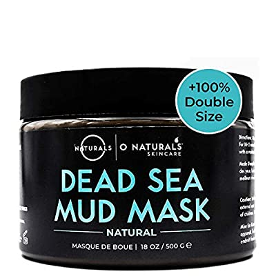 Dead Sea Mud for Face & Body. Best Acne Treatment Organic Deep Pore Minimizer Face Cleansing Pore Vacuum for Oily Skin Blackhead Remover Healing Exfoliating Skin Care for Men & Women 500gr