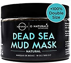 O Naturals Dead Sea 18oz Professional Grade Mud Mask for Face & Body Best for Acne Organic Deep Pore Minimizer Cleansing Pore Oily Skin Blackhead Remover Healing Exfoliating Skin Care for Men & Women