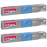 ALFAPAC - Papier Aluminium Plus Gaufré 30M - Lot de 3
