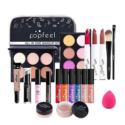 Pure Vie Kit de maquillaje multiusos Paleta de Maquillaje Set Paleta de Sombras de Ojos Juego de Maquillaje Kit de Maquillaje para Mujeres y Niñas Caja de Regalo Cosméticos #075