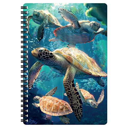 3D LiveLife A5 Quaderno - Tartarughe Marine a Nuoto di Deluxebase. Quaderno Tartaruga Marina 80 Pagine 3D lenticolare. Superbo articolo da scuola o ufficio con grafica del noto artista David Penfound