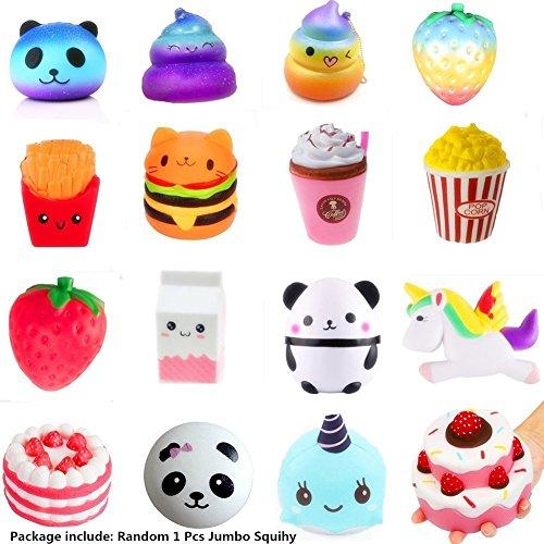 Newin Star Lent Squishies Erdbeere und Banane Pfirsich Bär Kawaii Squishies Spielzeug für Kinder und Erwachsene (Zufällig)