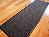 TrendMakers Dirt Stopper Carpet Runner 60cm x 160cm Grey/Black.With Non-Slip Back For Home office Kitchen