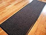 TrendMakers Dirt Stopper Carpet Runner 60cm x 160cm Grey/Black.With Non-Slip Back For Home
