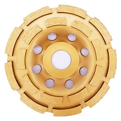 4-1/2-Inch Diamond Cup Grinding Wheel, Double Row Diamond Grinder Disc for Concrete, Granite, Stone, Marble etc