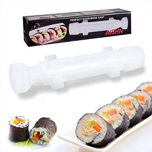 AISHN Sushi Roller Kit Sushi Bazooka Durable Camp Chef Rice Maker Machine Moldfor Easy Sushi Cooking Rolls Best kitchen Sushi Tool