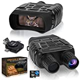 CREATIVE XP Digital Night Vision Binoculars for 100% Darkness - Save Photos & Videos with Audio – 4x35 mm Infrared Spy Gear for Hunting & Surveillance – Large Screen, 1000ft Viewing Range & 32GB Card