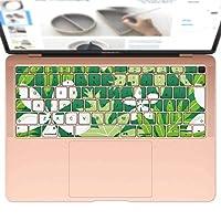 igsticker MacBook Air 13inch 2018 専用 キーボード用スキンシール キートップ ステッカー A1932 Apple マックブック エア ノートパソコン アクセサリー 保護 004216 フラワー 花 フラワー 模様