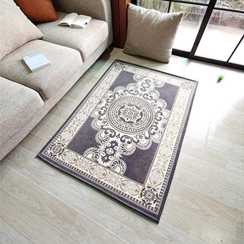 QWEASDZX Living Room Coffee Table Blanket Nordic Style Decorative Rug Bedroom Mattress Thick Washable Non-Slip Carpet Living Room Rug 100x140cm
