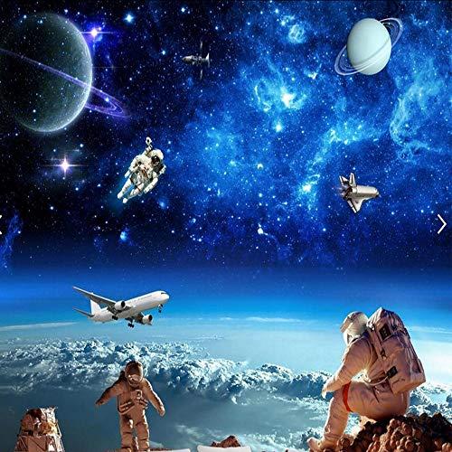 Cczxfcc Univers Cosmos sterren hemel 3D muurschildering voor kinderkamer papel Pintado Pared rolgordijnen 3D badkamer behang landschap plafond muur 400 cm.