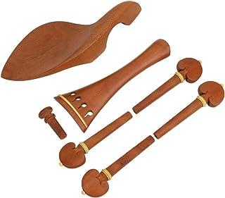 Violin Chin Rest, Rounded Design 4/4 Simple Design Jujube Wood Replacement Violin Tuning Peg, Violin Repair Violin Lover f...