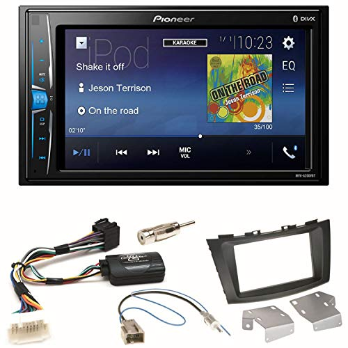 Pioneer MVH-A200VBT USB Bluetooth MP3 WMA Autoradio 2-DIN Moniceiver Einbauset für Suzuki Swift Sport FZ NZ