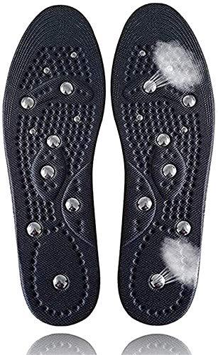 1 Paar Akupressur Einlegesohlen, Relaxed Feet Orthopädische Sohlen mit 18 Magneten zur Stimulierung von Druckpunkten, Atmungsaktiv und kühl, Deodorant, Ermüdung Entlasten L(40-46)