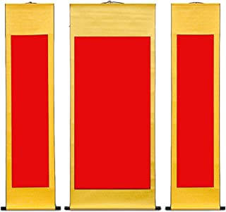 Sumi and Chinese Calligraphy Echaprey 6pcs Transverse Blank Mounting Hanging Wall Scrolls Set for Kanji