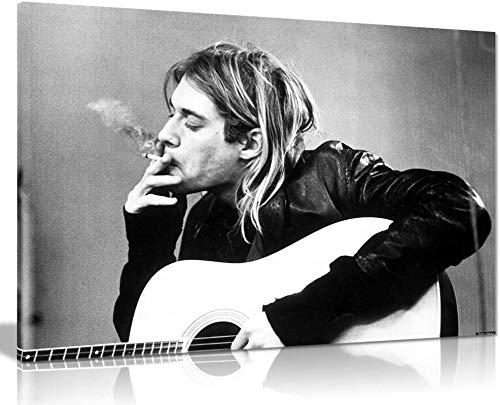 Kurt Cobain Nirvana Smoking Star Heaven Wall Art Picture Print (18x12in)