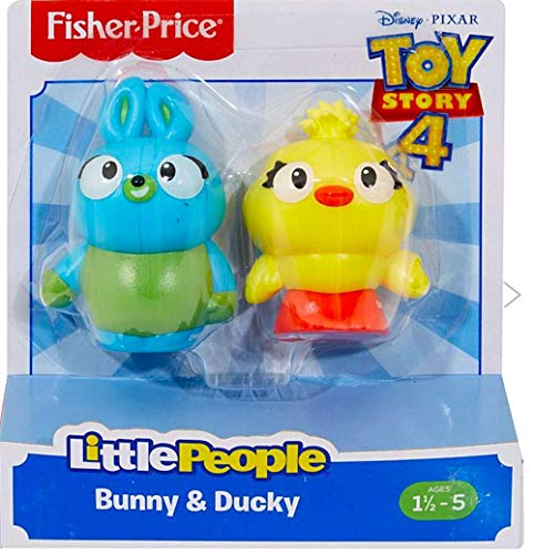 Fisher-Price Little People Bunny and Ducky Toy Story Figure 2-Pack