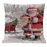 YSFWL KissenbezüGe Kissenbezug 45X45Cm DIY Weihnachtsmann Weihnachten Einfache Santa Super Weiche...