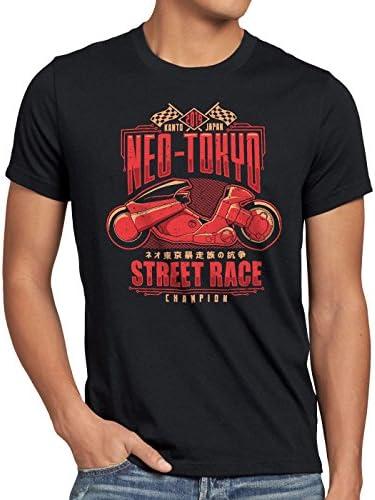 style3 Neo Tokyo Racing Camiseta para Hombre T-Shirt Akira Anime Manga