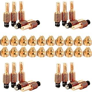 Jack&Dave 20PCS 220842 Plasma Electrodes 20PCS 220818 Plasma Tips Fit Hypertherm Powermax 45/65/85/105