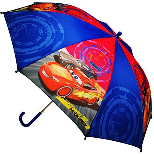 alles-meine.de GmbH Kinderschirm - Automatik - Regenschirm - Disney Cars - Auto - Lightning McQueen - Ø 87 cm - groß / Stockschirm mit Griff - Kinder - Automatikregenschirm - für..