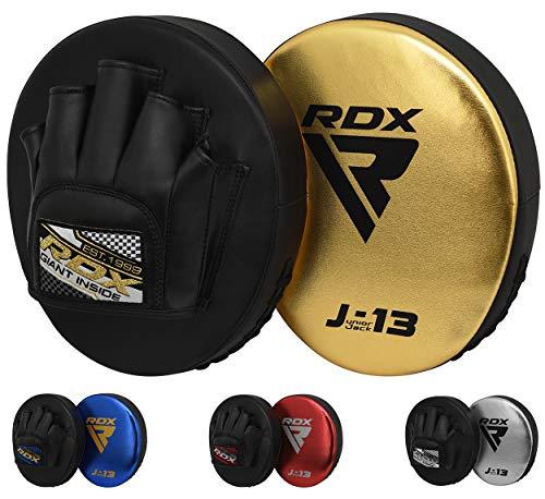 RDX Handpratzen Kinder Kampfsport Boxen Pads MMA Boxpads Schlagpolster Junior Kickboxen BoxPratzen Muay Thai Training Schlagkissen (MEHRWEG)