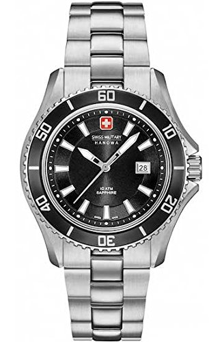 SWISS MILITARY-HANOWA Damen Analog Quarz Uhr mit Edelstahl Armband 06-7296.04.007