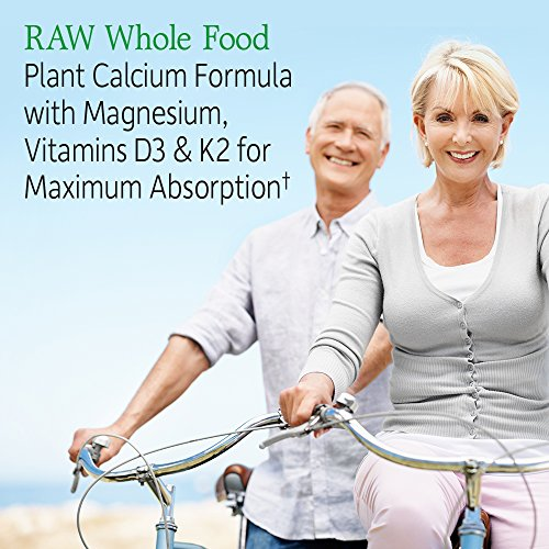 Garden of Life Raw Calcium Supplement for Women and Men - Vitamin Code Made from Whole Foods with Magnesium, K2, Vitamin D3 and Vitamin C, for Bone Strength, Probiotics for Digestion, 120 Capsules