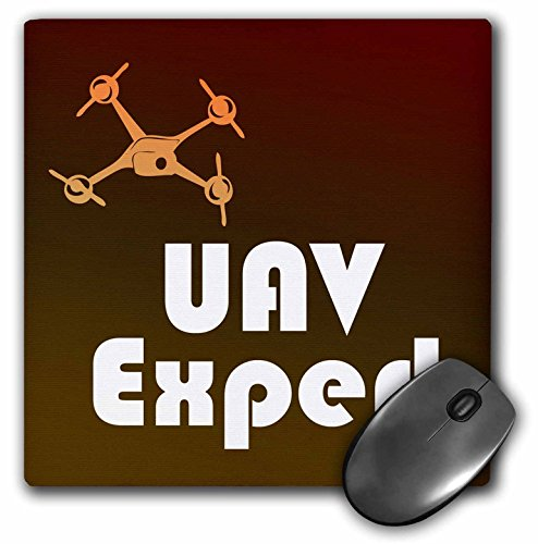 Brown and Orange Drone for UAV Expert - Mouse Pad, 8 by 8 inches (mp_179966_1)