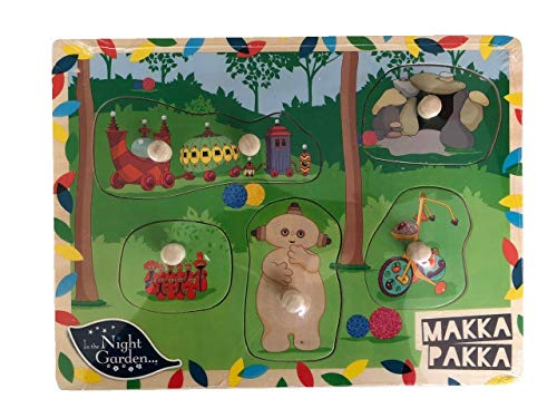 Night Garden In The Kids Wooden Puzzle Development Toy - Makka Pakka