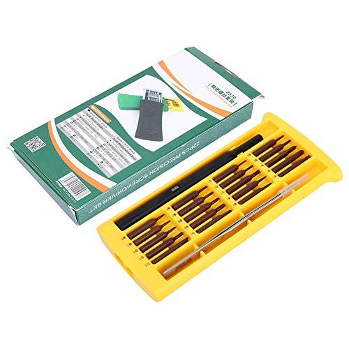 Destornillador de reparación de teléfonos móviles fuerte, operación de agarre Potente kit de controlador de almacenamiento de imán S2 Aleación de vanadio cromado para teléfono, tableta, reloj portátil