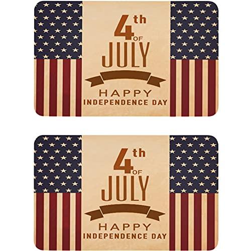 Vnurnrn Imán patriótico del lavaplatos del 4 de julio con la bandera americana placa magnética decorativa para cocina oficina arandela indicador 2 piezas