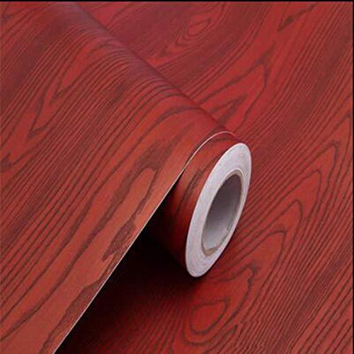 Rollo de papel pintado de madera rústica de 3 m y 5 m, para muebles, armarios, puertas, escritorio, autoadhesivo, papel de contacto, vinilo impermeable