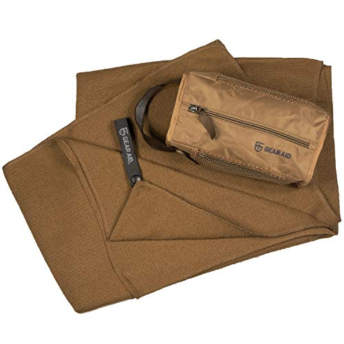 """GEAR AID Quick Dry and Compact Micro-Terry Towel, Coyote, Large, 30"""" x 50"""
