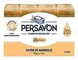 PERSAVON Savon de Marseille glycérine 200 g 4 Pièces - Lot de 2