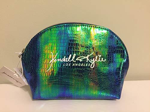Kendall + Kylie Blue/Green Iridescent Makeup Pouch