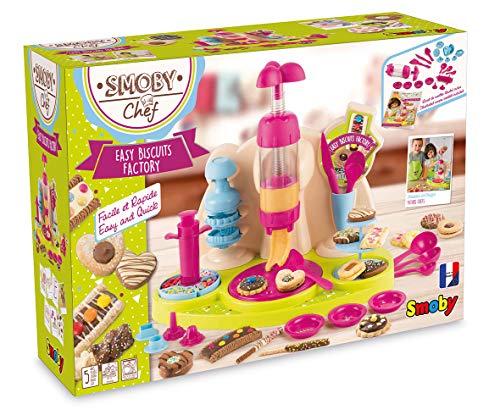 Smoby Chef - Easy Biscuits Factory - Fabrique à Gâteaux + Livre de Recettes - Atelier de Cuisine Enfant - Nombreux Accessoires - Dès 5 Ans - 312109