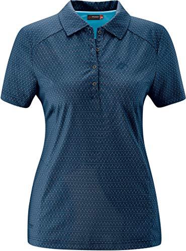 Maier Sports Pandy Polo Shirt Damen lightblue Allover Größe EU 36 2020 Kurzarmshirt