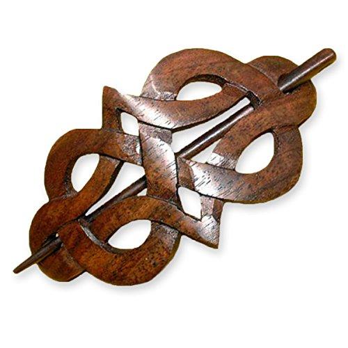 ISLAND PIERCINGS Haarspange Handarbeit aus Holz HS16