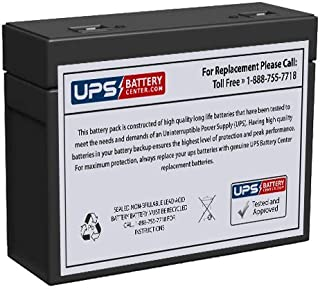 CSB HC1221W - (Replaces HC1217W) 12 Volt (21 Watts) Sealed Lead Acid Replacement Battery with Recessed Terminals