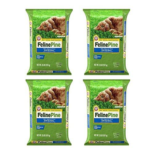 'Ames' Feline Pine Cat Litter, 20 Lbs - 4 Pack