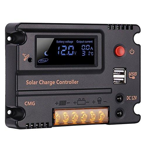 20A 12V 24V Solar-Laderegler Auto Switch LCD intelligente Panel Batterie Regler Laderegler ?berlastschutz