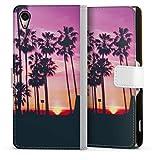 DeinDesign Étui Compatible avec Sony Xperia Z2 Étui Folio Étui magnétique Palmier Coucher du...