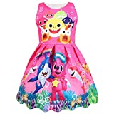 Coralup Toddler Girls Sleeveless Party Dress(Rose,2-3 Years)