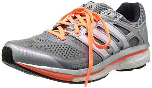 adidas Supernova Glide 6 D66863 Damen Laufschuhe, Grau (Tech Grey F12/Black 1/Glow Orange S14), EU 36 (UK 3.5)