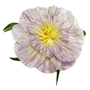 Cuteque International 6-Pack Lilac Soft Silk Cosmo Flower with Yellow Peep Center, 3-Inch