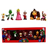 TECHVIA 6 Pcs Super Mario Cartoon Animal Birthay Cake Toppers, Mini Action Figures Playset for Birthday Party Supplies
