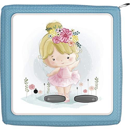TheSmartGuard Schutzfolie passend für die Toniebox   Folie Sticker   Kleines Mädchen mit blonden Haaren und Blumen
