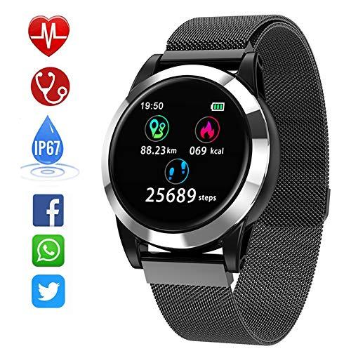 Smart Watch R15 Neu, für Männer und Frauen wasserdichter Fitness-Tracker, Kalorien- / Schrittzähler Outdoor-Smart-Sportuhr mit, für Android und Ios