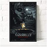 wzgsffs Annabelle Classic Movie Series Horror Wall Art Print En Lienzo para Sala De Estar Hogar Dormitorio Decorativo Cafe-24X32 Pulgadas X 1 Sin Marco